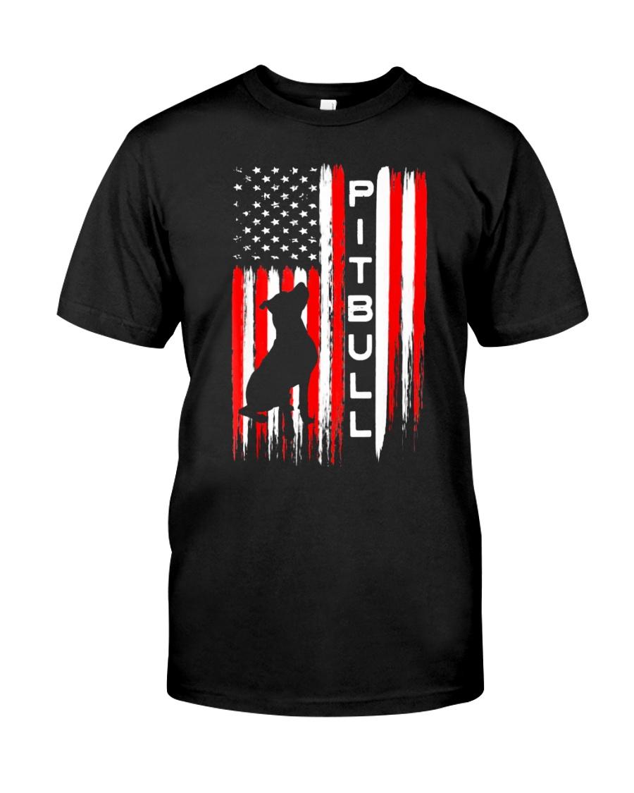 Pit Bull American Flag Tshirt Classic T-Shirt