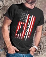 Pit Bull American Flag Tshirt Classic T-Shirt lifestyle-mens-crewneck-front-4