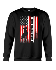 Pit Bull American Flag Tshirt Crewneck Sweatshirt thumbnail