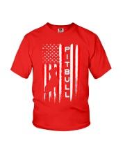 Pit Bull American Flag Tshirt Youth T-Shirt thumbnail