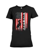 Pit Bull American Flag Tshirt Premium Fit Ladies Tee thumbnail
