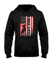 Pit Bull American Flag Tshirt Hooded Sweatshirt thumbnail