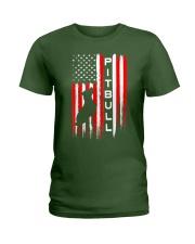 Pit Bull American Flag Tshirt Ladies T-Shirt thumbnail