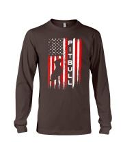 Pit Bull American Flag Tshirt Long Sleeve Tee thumbnail