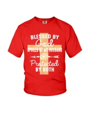 Blessed By God Spoiled By Husband  Youth T-Shirt thumbnail