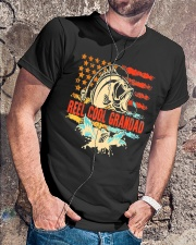 Reel Cool Grandad Shirt Funny Fishing Father's Day Classic T-Shirt lifestyle-mens-crewneck-front-4