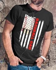 Distressed USA Flag Baseball Dad T-Shirt  Classic T-Shirt lifestyle-mens-crewneck-front-4