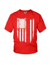 Distressed USA Flag Baseball Dad T-Shirt  Youth T-Shirt thumbnail