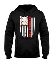 Distressed USA Flag Baseball Dad T-Shirt  Hooded Sweatshirt thumbnail