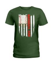 Distressed USA Flag Baseball Dad T-Shirt  Ladies T-Shirt thumbnail