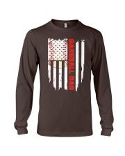 Distressed USA Flag Baseball Dad T-Shirt  Long Sleeve Tee thumbnail