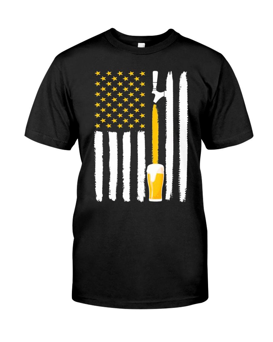 Craft Beer American Flag USA T-Shirt Classic T-Shirt