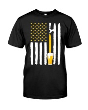Craft Beer American Flag USA T-Shirt Classic T-Shirt front