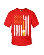 Craft Beer American Flag USA T-Shirt Youth T-Shirt thumbnail