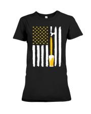 Craft Beer American Flag USA T-Shirt Premium Fit Ladies Tee thumbnail