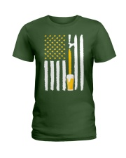 Craft Beer American Flag USA T-Shirt Ladies T-Shirt thumbnail