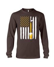 Craft Beer American Flag USA T-Shirt Long Sleeve Tee thumbnail