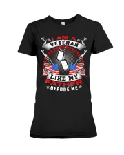 I Am A Veteran Like My Father Before Me T-shirt Ve Premium Fit Ladies Tee thumbnail
