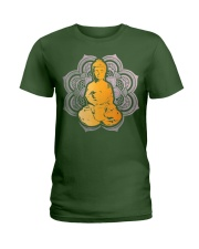 Spiritual Zen Buddha Mandala Meditation Peace Ladies T-Shirt tile
