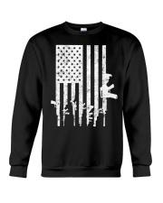 Distressed American Flag Guns T-Shirt Crewneck Sweatshirt thumbnail