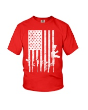 Distressed American Flag Guns T-Shirt Youth T-Shirt thumbnail