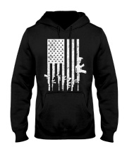 Distressed American Flag Guns T-Shirt Hooded Sweatshirt thumbnail