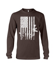 Distressed American Flag Guns T-Shirt Long Sleeve Tee thumbnail