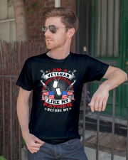 i am a veteran like my father before me shirt Classic T-Shirt lifestyle-mens-crewneck-front-2