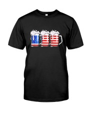 Beer American Flag T shirt Classic T-Shirt front