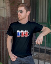 Beer American Flag T shirt Classic T-Shirt lifestyle-mens-crewneck-front-2