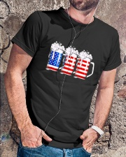 Beer American Flag T shirt Classic T-Shirt lifestyle-mens-crewneck-front-4