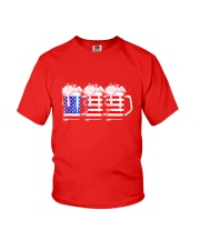 Beer American Flag T shirt Youth T-Shirt tile