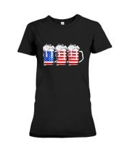 Beer American Flag T shirt Premium Fit Ladies Tee thumbnail