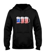 Beer American Flag T shirt Hooded Sweatshirt thumbnail