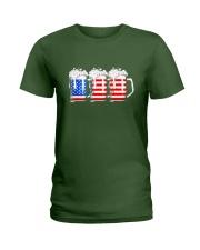 Beer American Flag T shirt Ladies T-Shirt thumbnail