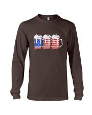 Beer American Flag T shirt Long Sleeve Tee thumbnail