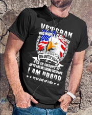 Veteran Who Wrote A Blank Check Classic T-Shirt lifestyle-mens-crewneck-front-4