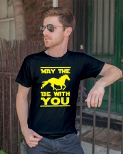 May The Horse Be With U You Classic T-Shirt lifestyle-mens-crewneck-front-2