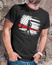 Baseball T Shirt American Flag Classic T-Shirt lifestyle-mens-crewneck-front-4