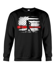 Baseball T Shirt American Flag Crewneck Sweatshirt thumbnail