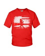 Baseball T Shirt American Flag Youth T-Shirt thumbnail