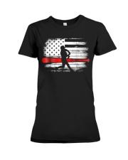 Baseball T Shirt American Flag Premium Fit Ladies Tee thumbnail