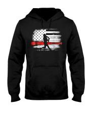 Baseball T Shirt American Flag Hooded Sweatshirt thumbnail