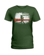 Baseball T Shirt American Flag Ladies T-Shirt thumbnail