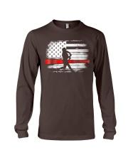 Baseball T Shirt American Flag Long Sleeve Tee thumbnail