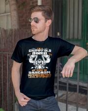 I'M GRUMPY OLD BIKER Classic T-Shirt lifestyle-mens-crewneck-front-2