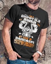 I'M GRUMPY OLD BIKER Classic T-Shirt lifestyle-mens-crewneck-front-4