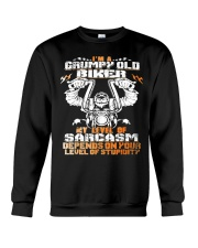 I'M GRUMPY OLD BIKER Crewneck Sweatshirt thumbnail