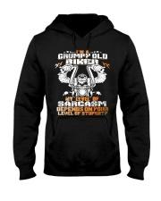 I'M GRUMPY OLD BIKER Hooded Sweatshirt thumbnail