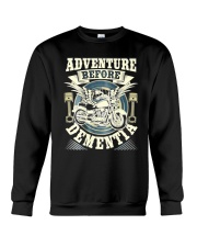 Shirt Biker Adventure Before Dementia Old Man Crewneck Sweatshirt tile